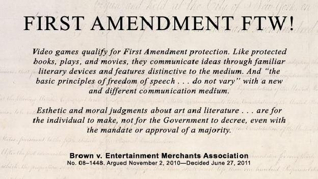 an argument in favor of overturning the brown v entertainment merchants associations supreme court c Violent video games and the supreme court lessons for the scientific community in the wake of brown v entertainment merchants association.